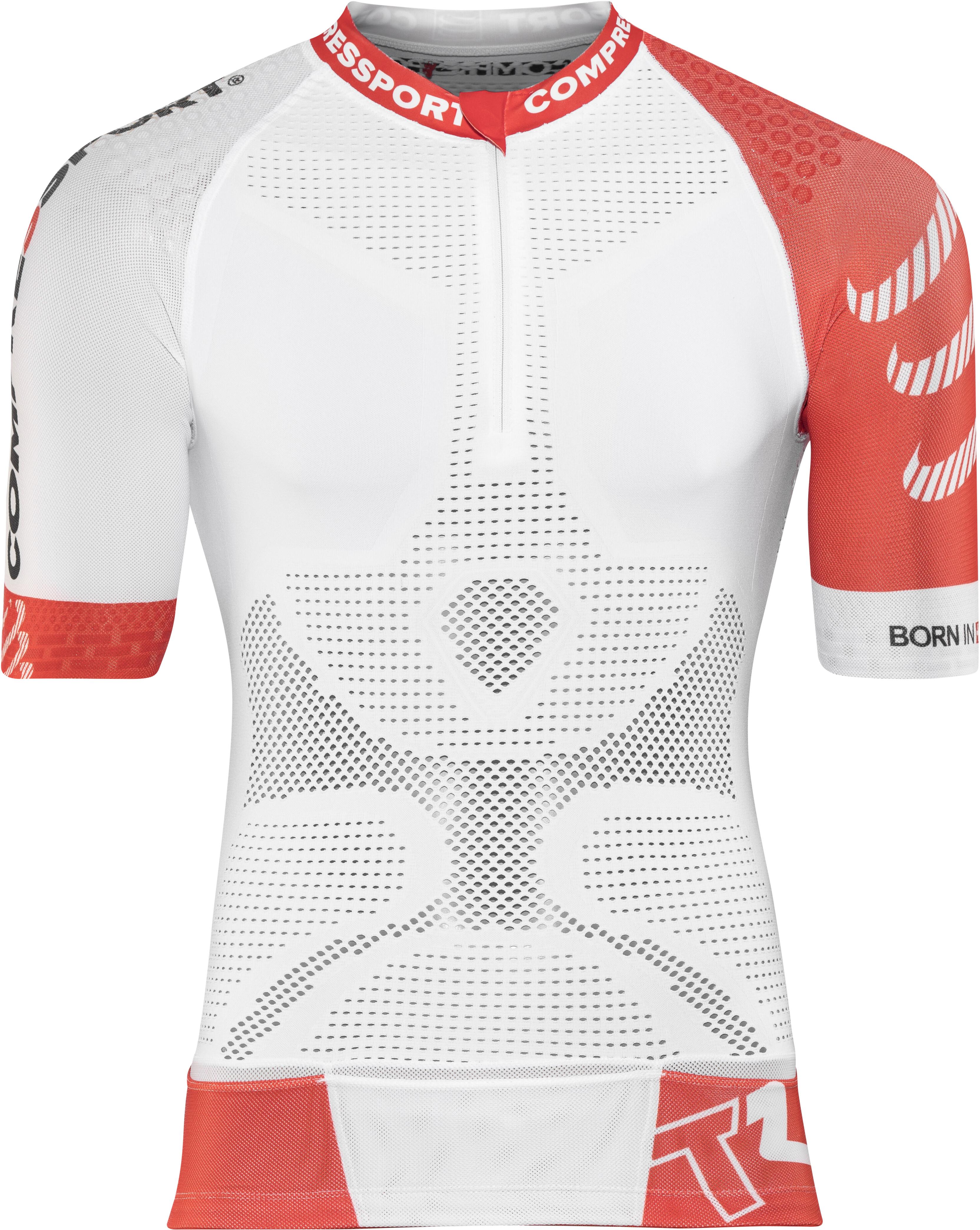 cae173a21d Compressport Trail Running V2 - Camiseta Running Hombre - rojo/blanco